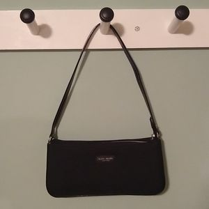 Kate spade purse black fabric with leather details